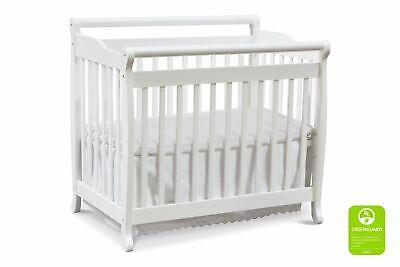 DaVinci Emily 2-in-1 Mini Crib and Twin Bed with 1' Waterproof Pad Emily Mini Crib Bedding