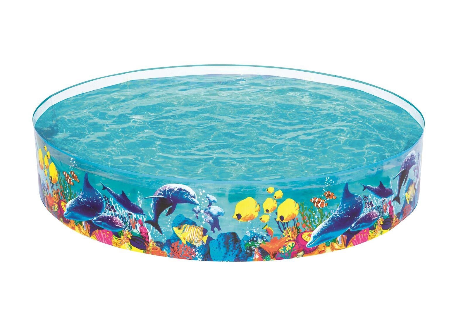 Planschbecken Kinderpool Kinderspaß 244 x 46 cm Pool zum aufstellen