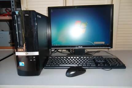 HP PRO 3130 i3@ 3.07GHZ 4GB RAM 250HD WIN7 PRO+19IN LCD MON
