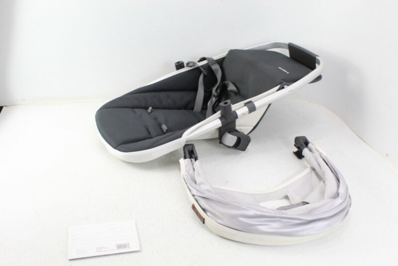 UPPAbaby 0920-RBS-US-GRY RumbleSeat V2 Bryce Charcoal Leather Travel Seat