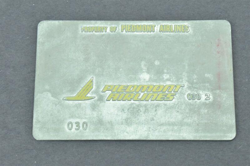 Piedmont Airlines Validation Plate