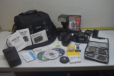 Canon EOS 70D DSLR Kit with 3 Lenses, Flash, Batteries, Chargers, Filters & Case