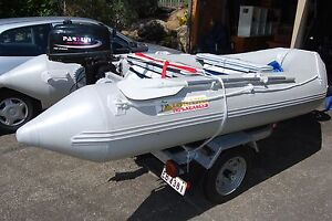 Inflatable Boat, Motor and Trailer Everton Hills Brisbane North West Preview