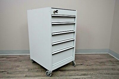 Mobile Dental Cabinet By Snap-on-tools Heavy Duty With 5 Keyed Locking Drawers