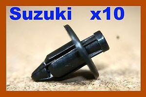 10 Suzuki fairing panel plastic push fastener clips