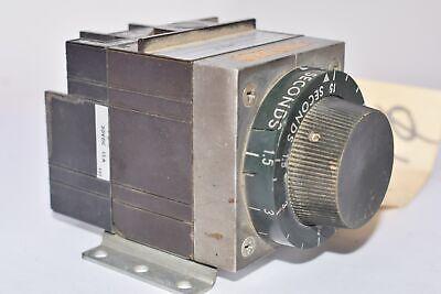 Agastat 7012cc Timing Relay Knob Control 480v 1.5-15sec Serial F