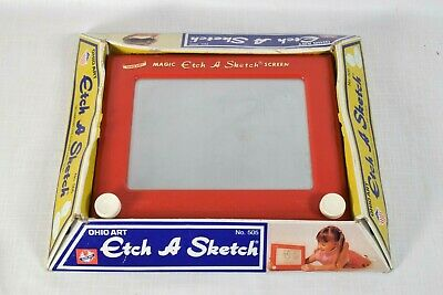 Vintage Etch A Sketch In Box Ohio Art No 505 (1960's) w/Box (WORKS GREAT)