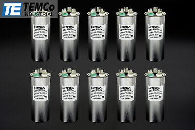 Temco 405 Mfd Uf Dual Run Capacitor 370 440 Vac Volts 10 Lot Ac Motor Hvac 405