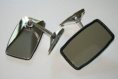 Coppia Specchietto universale cromato per auto d'epoca - sinistro + destro