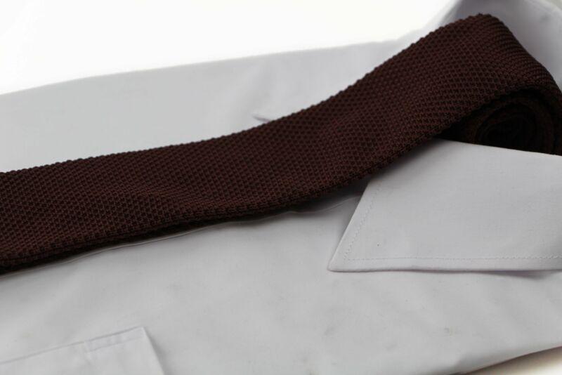 Mens Brown Knit Tie