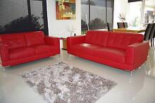 Sofa Morgan 2 and 3 Seat Pair in Leather Jindalee Wanneroo Area Preview