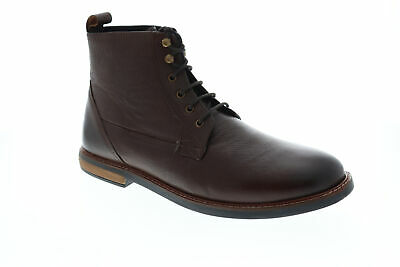 Ben Sherman Birk Plain Toe BNM00050 Mens Brown Leather Casual Dress Boots Shoes Mens Plain Toe Boots