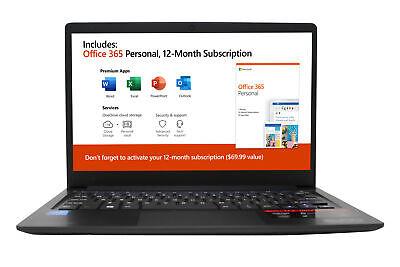 "EVOO 11.6"" Ultra Thin Laptop, Full HD, 32GB Storage, 4GB RAM, Front Camera"