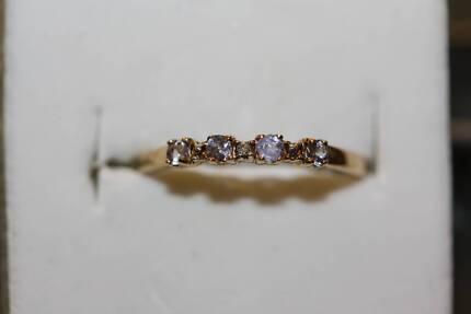 9ct Aquamarine & Diamond Ring Women s Jewellery