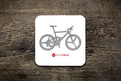 Bike Ninja Blue MTB Jersey Mug Zaskar Hans Rey LTS RTS Coaster GT Black