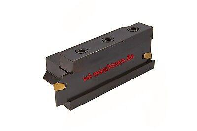16  mm Einstechmeissel Abstechmeissel Abstechmesser Nutmeissel TIN Wendeplatte