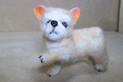 OOAK needle felted artist handcraft / handmade dog french bulldog