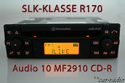 Mercedes Autoradio SLK-Klasse R170 CD-Radio Audio 10 CD MF2910 Original CD-R OEM Oem Audio