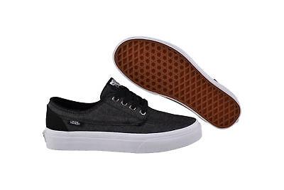 Vans Brigata black/true white Sneaker/Schuhe ZSLF7O schwarz/grau/weiss (Grau Schwarze Vans Schuhe)