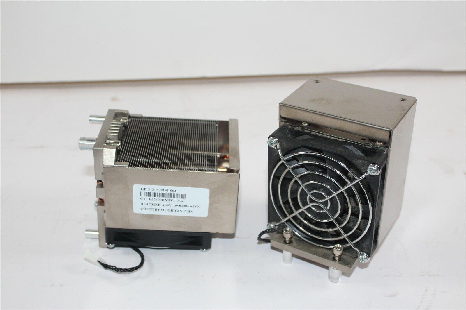 Lot Of 2 XW8400 XW6400 Workstation HeatSink//Fan 398293-001 398293-002 398293-003