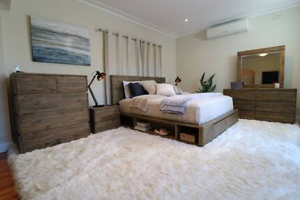 BEST SELLING - Reclaimed Timber Portsea 4pc Bed Suite - Brand New