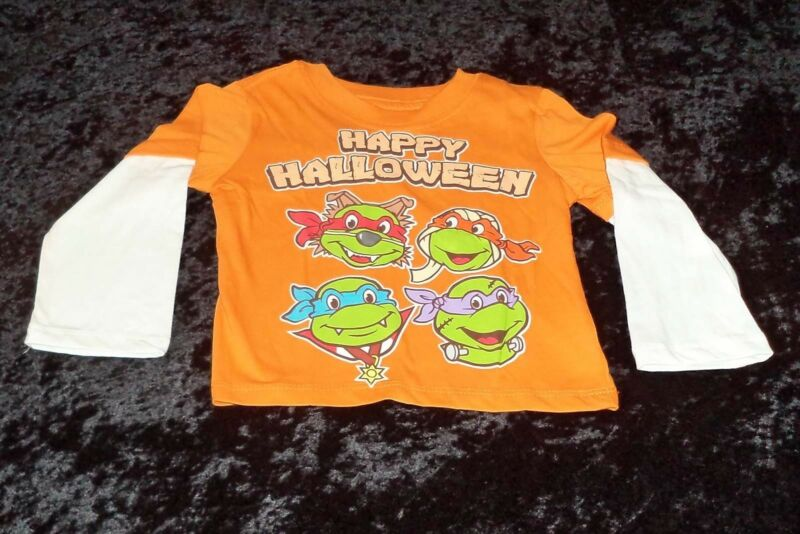 TMNT Ninja Turtles Happy Halloween Infant/Toddler T-Shirt (12 Months-5T) NEW!