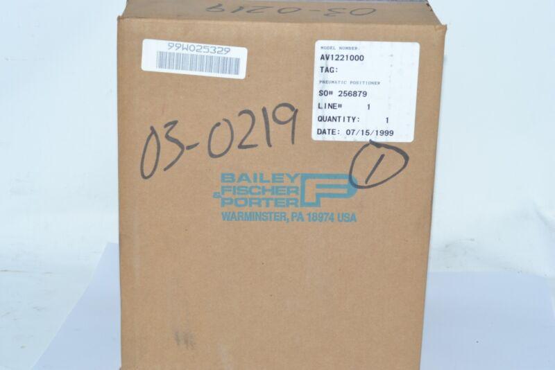 NEW ABB AV1221000 Pneumatic Valve Positioner, SEALED