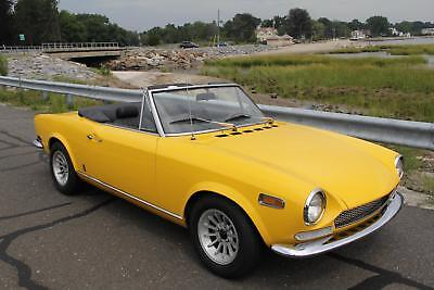 1970 Fiat 124 Spider -- 1970 FIAT 124 SPIDER  34825 Miles YELLOW CONVERTIBLE 1.6 LITER MANUAL