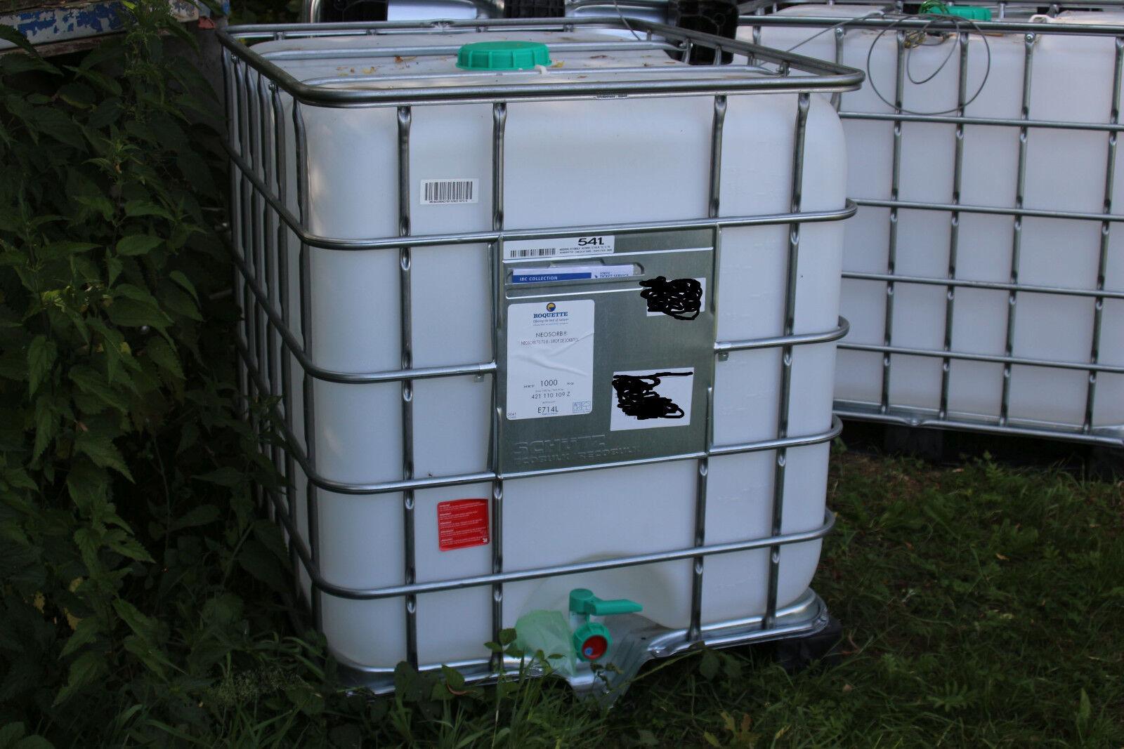 IBC Container 1000L Liter Wassertank Regenwassertank Kunststoffpalette ungiftig!