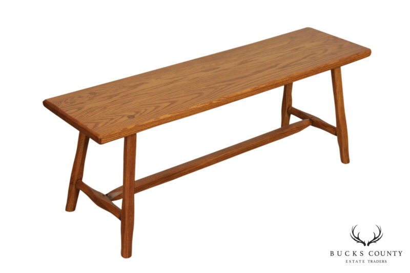 Hunt Country Furniture Solid Oak 48 inch Bench