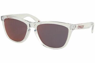 Oakley Frogskins OO9103 A5 Sunglasses Men's Clear/Torch Iridium Lens Square (5 Squared Oakley)