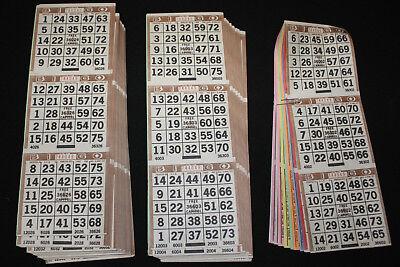 BINGO PAPER Cards sheets 3 on 10 Brown Bdr 50 packs FREE - Paper Bingo Cards