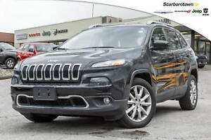 2016 Jeep Cherokee Limited+V6+NAV+LTHR+CO CAR