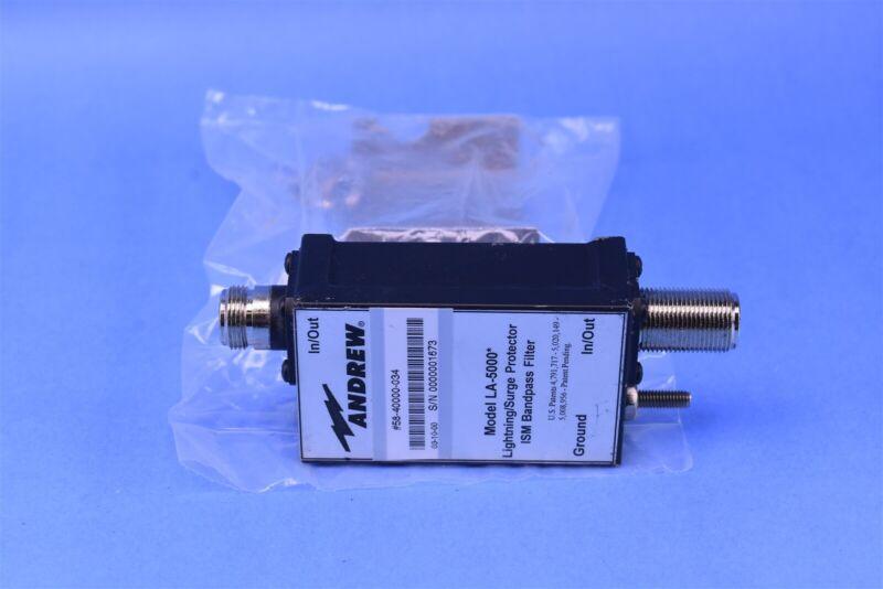 Andrew Lightening / Surge Suppressor Protector ISM Bandpass Filter w/ N-Type