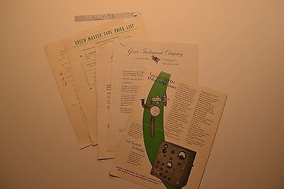 J113 Green Instrument Co Engraver Pantograph Hardness Tester Catalog Price List