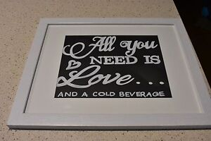 Wedding all you need is love and a cold beverage