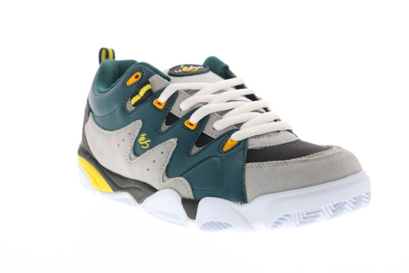 ES Symbol 5101000169375 Mens Gray Leather Skate Inspired Sneakers Shoes