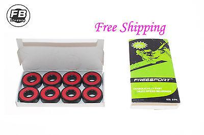 8Pcs 608RS Roller Ceramic ball Skate Bearings 22x8x7mm Drift Plate US seller