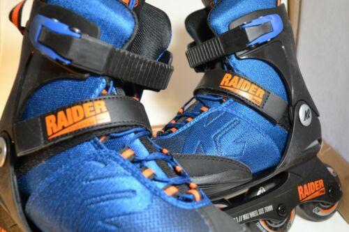 K2 Skate Youth Raider Pro Pack Inline Skates Blue/Orange 4-8