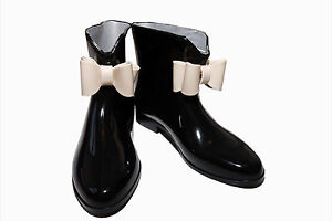 LADIES WOMENS FASHION BOW ANKLE SHORT WELLIES WELLINGTON WELLY BOOTS UK SIZE 3-7