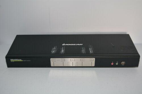 IOGEAR 4-Port Dual View Dual-Link DVI KVMP Switch Audio & DCC Ethernet Port