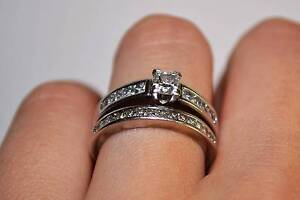 Rand 18CT White Gold Diamond Engagement Ring Set! Fast Sell! Claremont Nedlands Area Preview