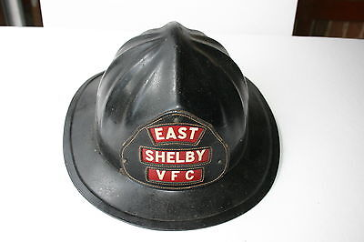 Vintage Firefighter Steinhaufen 720 Fiberglas Helm Black Osten Shelby Vfc 7 1/8 - Black Fire Glas