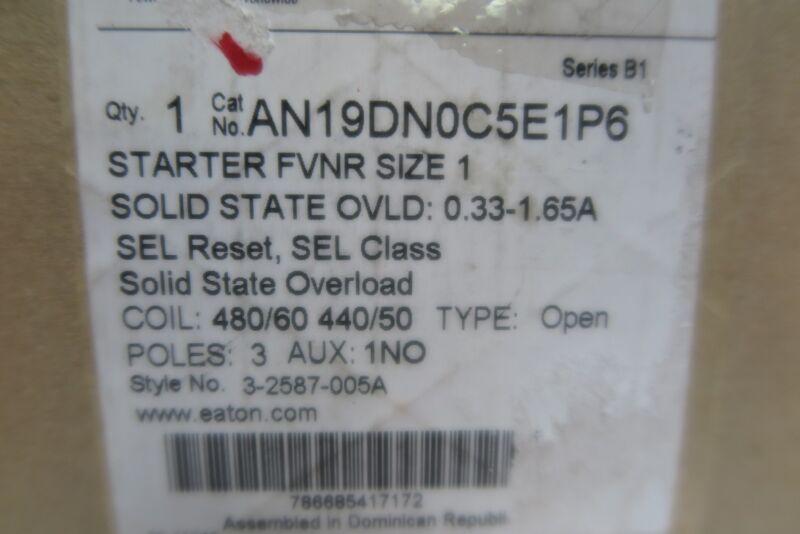 eaton magnetic motor starter AN19DN0C5E1P6