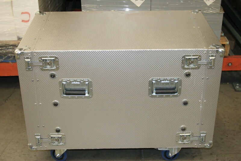 Cyber-Case 10U Shock Isolating Welded Aluminum Rackmount Case with Casters