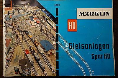 Katalog Modelleisenbahn Märklin  Gleisanlagen um  1960  Spur HO
