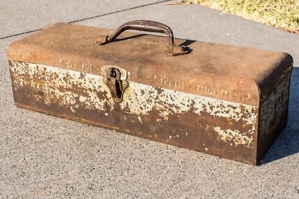 Vintage Tool Box with various tools