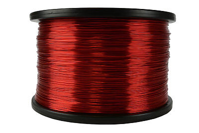 1002 Length 2.5 Lbs Enameled Copper Wire Red Magnet Wire 21 AWG 0.0296 Diameter