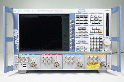 Rohde Schwarz Zva40 Vector Network Analyzer 4 Ports 10 Mhz - 40 Ghz