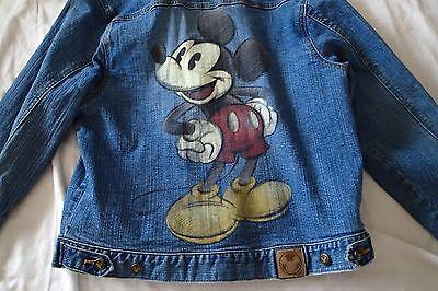 disney store mickey mouse JACKET ,denim,SZ m 10/12 youth JEANS,blue zd
